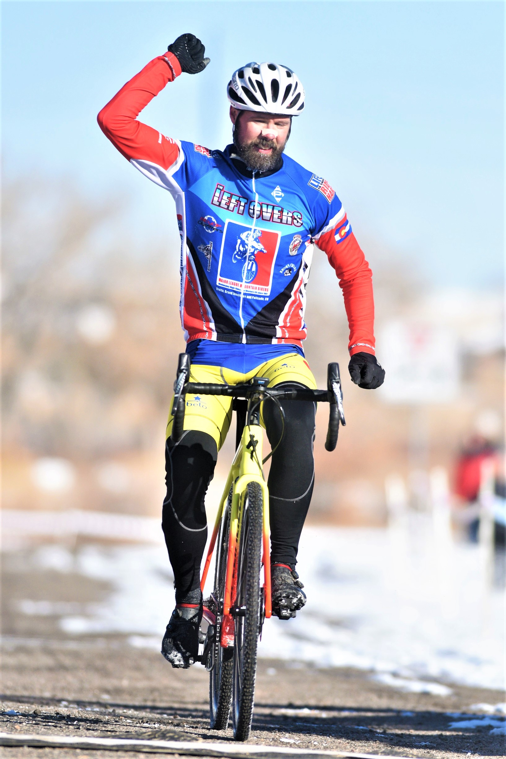 Marc winning the Colorado State Championship race in Parker, CO